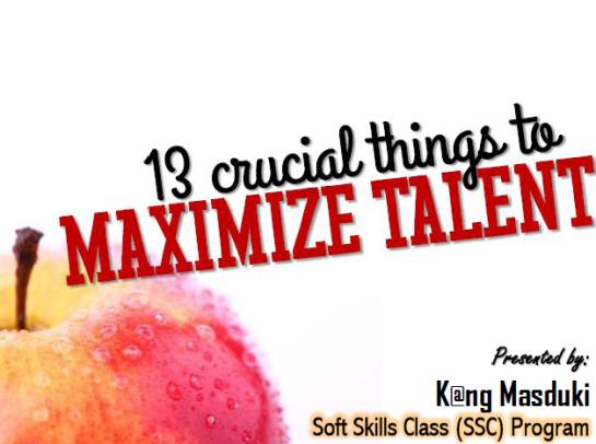 maximize talents